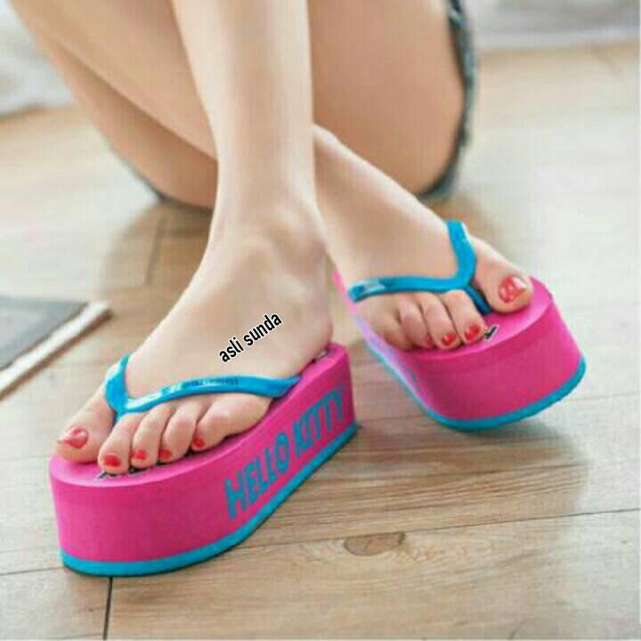 Jual Sandal Jepit / Wedges Cantik Suplier Sepatu Murah ...