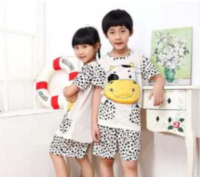 STKD232 - Setelan Anak Cream Cow Yellow Murah