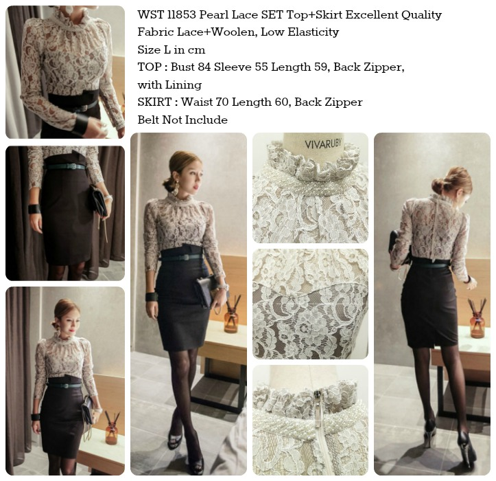 Pearl Lace SET Top+Skirt-11853