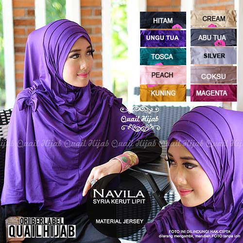 Jilbab Syiria Navila Kerut - Original Quail Hijab