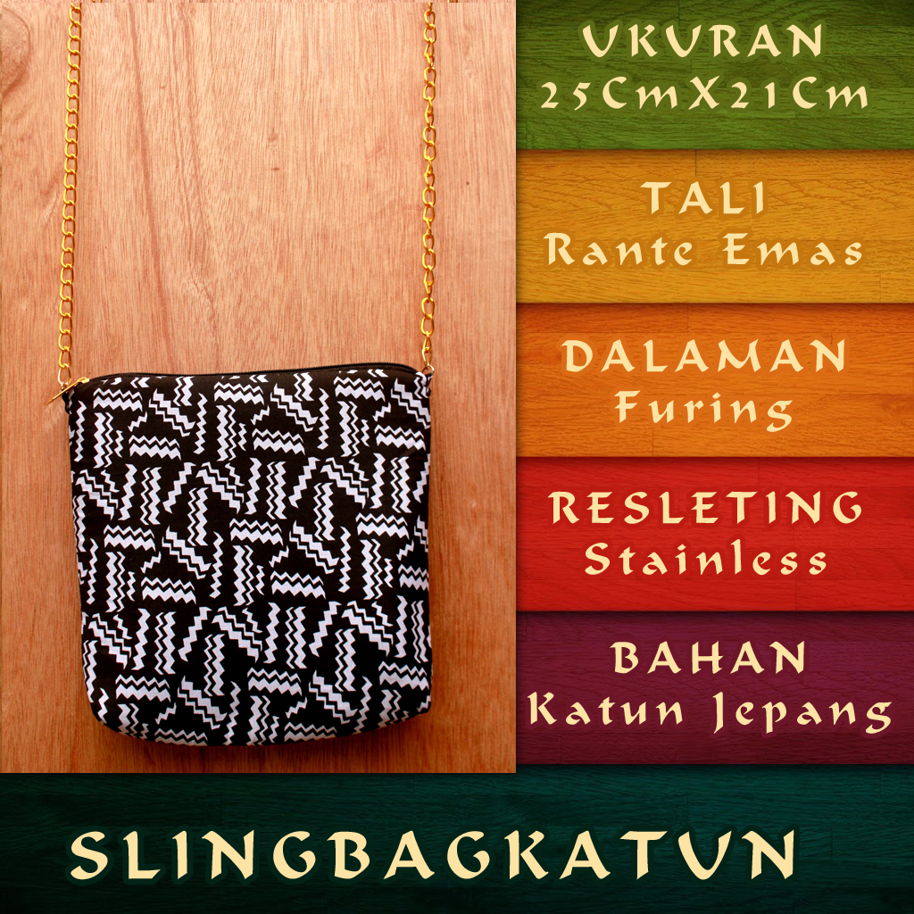 Sling bag tokopedia -  Sling Bag Katun Murah