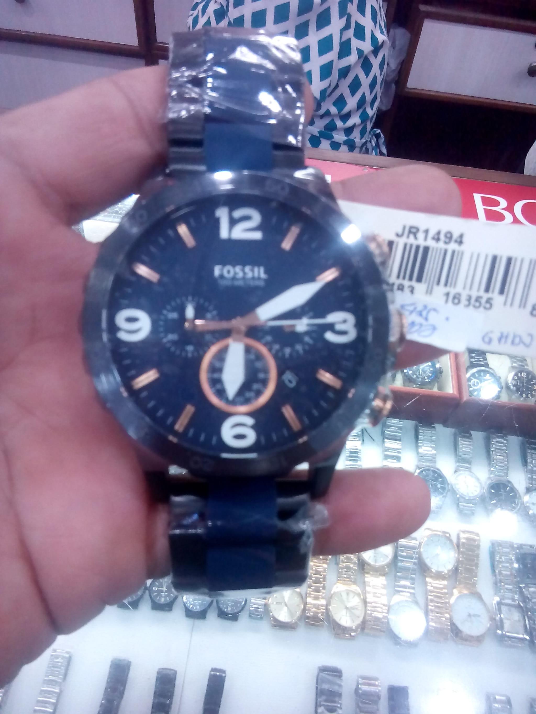 Fossil Jam Tangan Pria Jr1401 Nate Chronograph Black Jr1494 Stainless Steel Bracelet Hitam Blue Watch Jr1530 Dial Source