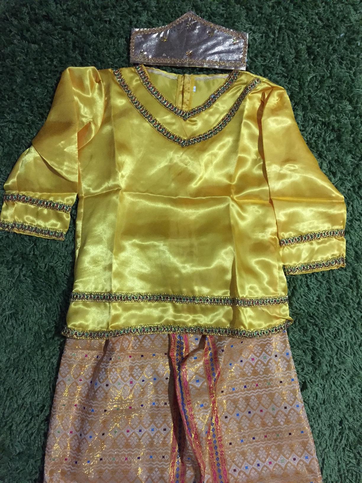 Jual Baju Adat Palembang Anak Peremepuan Size S Kuning