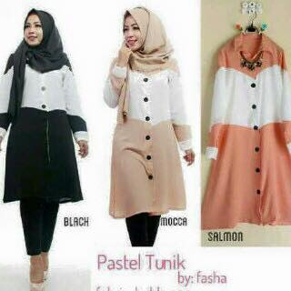 Baju menyusui / baju berkancing / Pastel Tunic / tunik / hijab murah