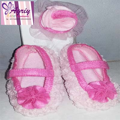 Jual Sepatu Dan Bando Bayi Dari Kain Flanel Agriyflanel Tokopedia