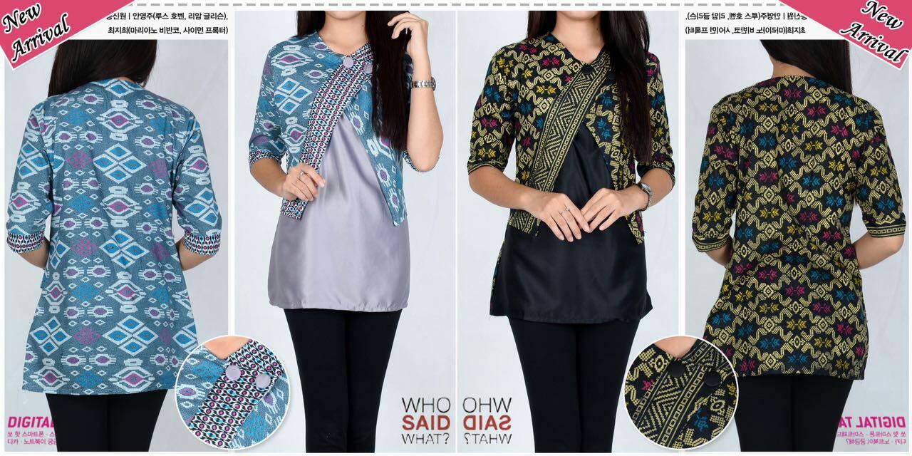 Jual blouse batik wanita atasan batik fashion baju kantor - Lollipop ... 67562bb5f2