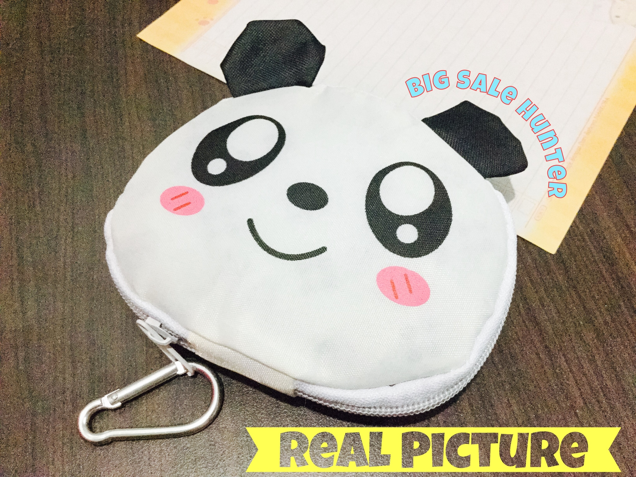 Jual Tas Les Shopping Belanja Karakter Panda Lucu Bisa Dilipat Dompet Barang Jadi Kecil Big Sale Hunter Tokopedia
