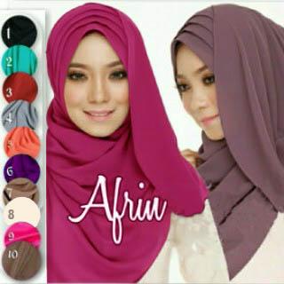 Hijab/Jilbab Afrin Siffon