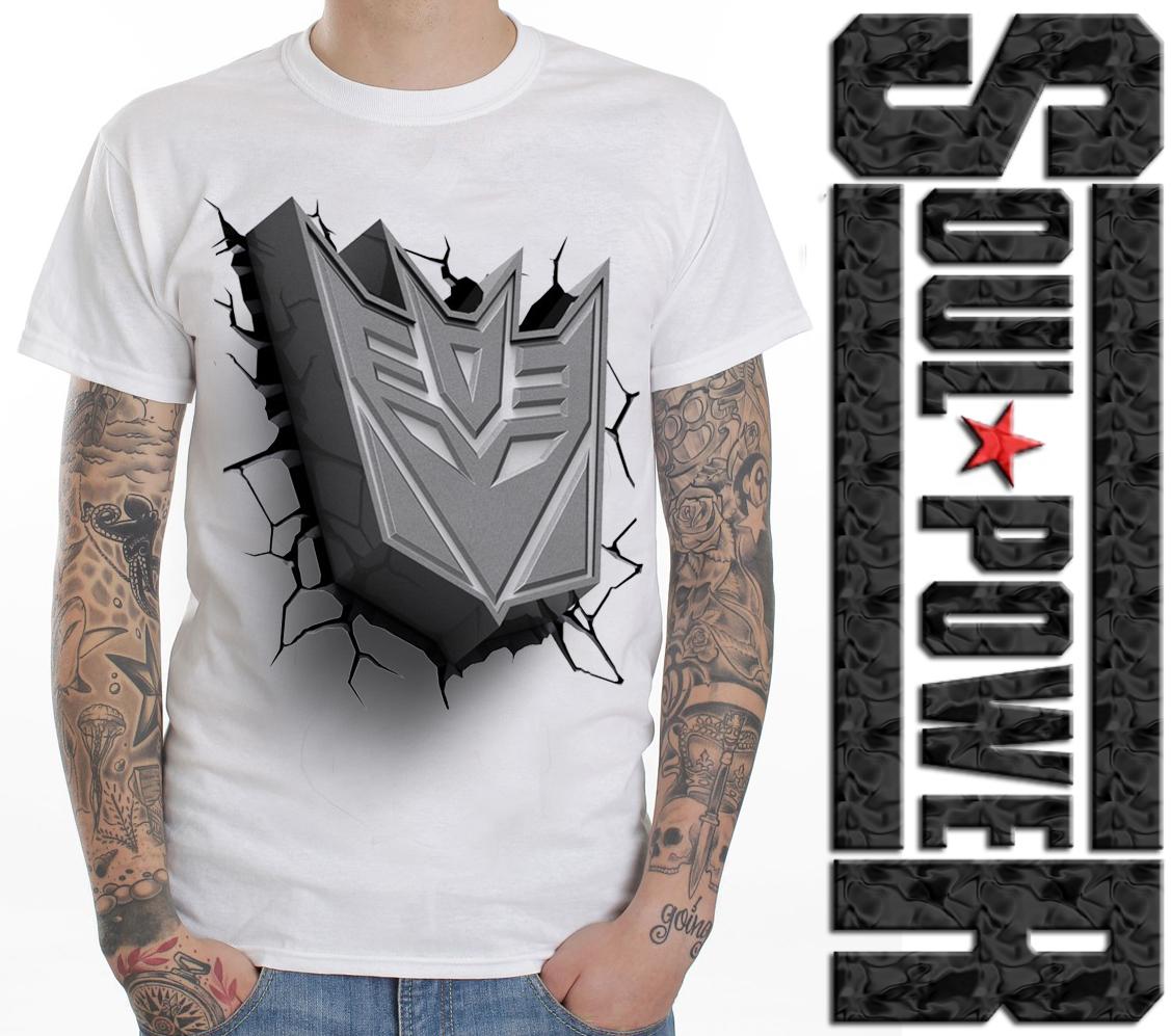 Jual Kaos 3d Soulpowerstyle Transformers Logo Kaos 3d