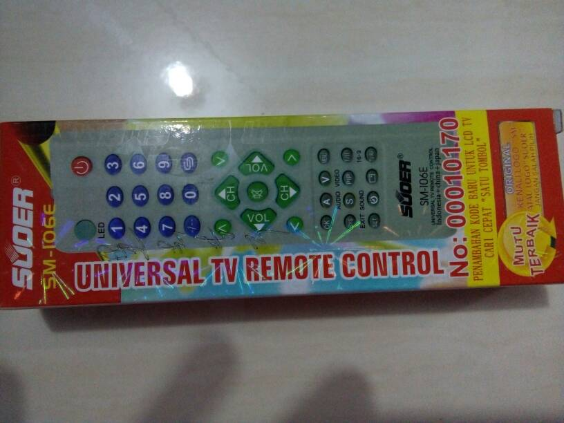 Jual Remote tv universal multi tv Suoer (sharp,LG,panasonic,toshiba