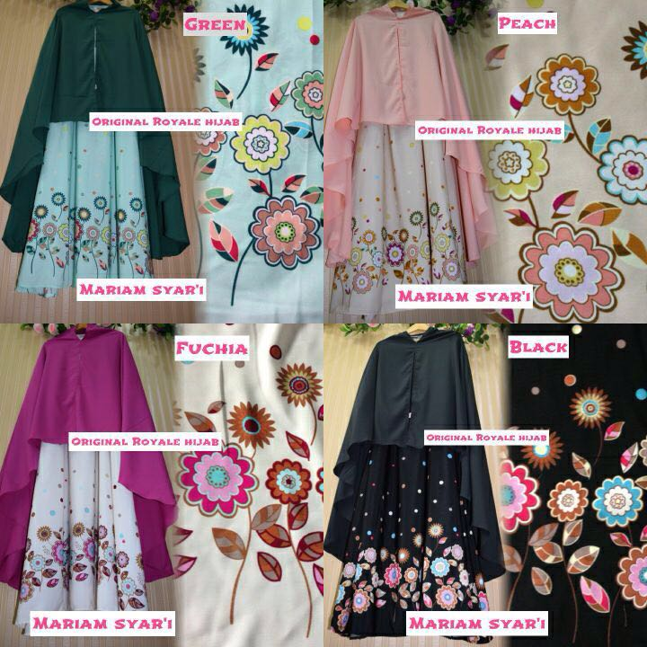 SUPPLIER HIJAB REALPICT : MARIAM SYARI BY ROYALE
