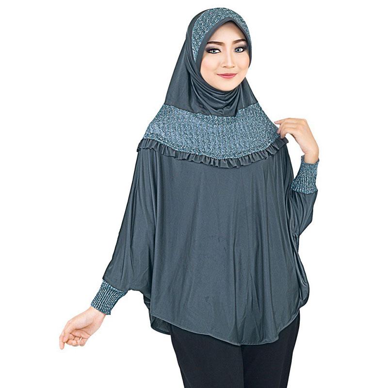 Jilbab | Kerudung | Hijab Bergo Lengan | Abu - Inficlo SOP 707