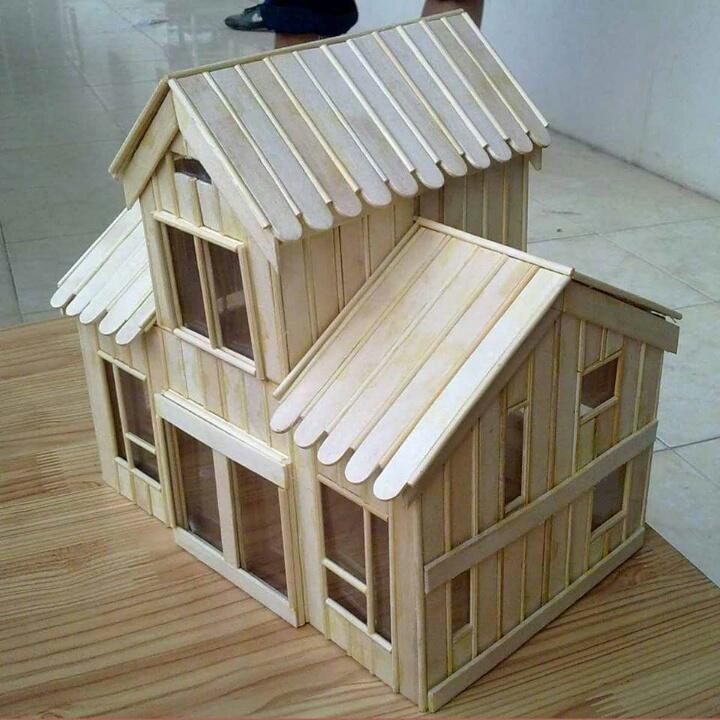 Desain Rumah Adat Dari Stik - Contoh Hu