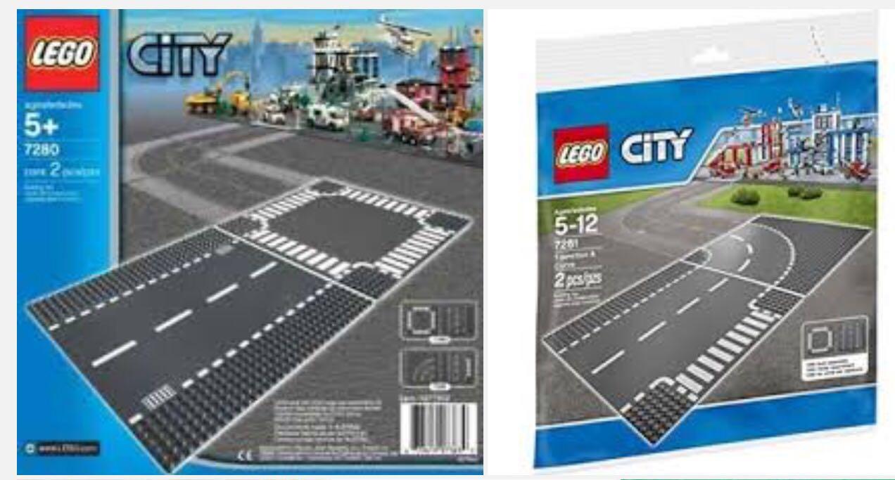 LEGO 7280 + 7281 - Brick and More - Roadplate Bundle