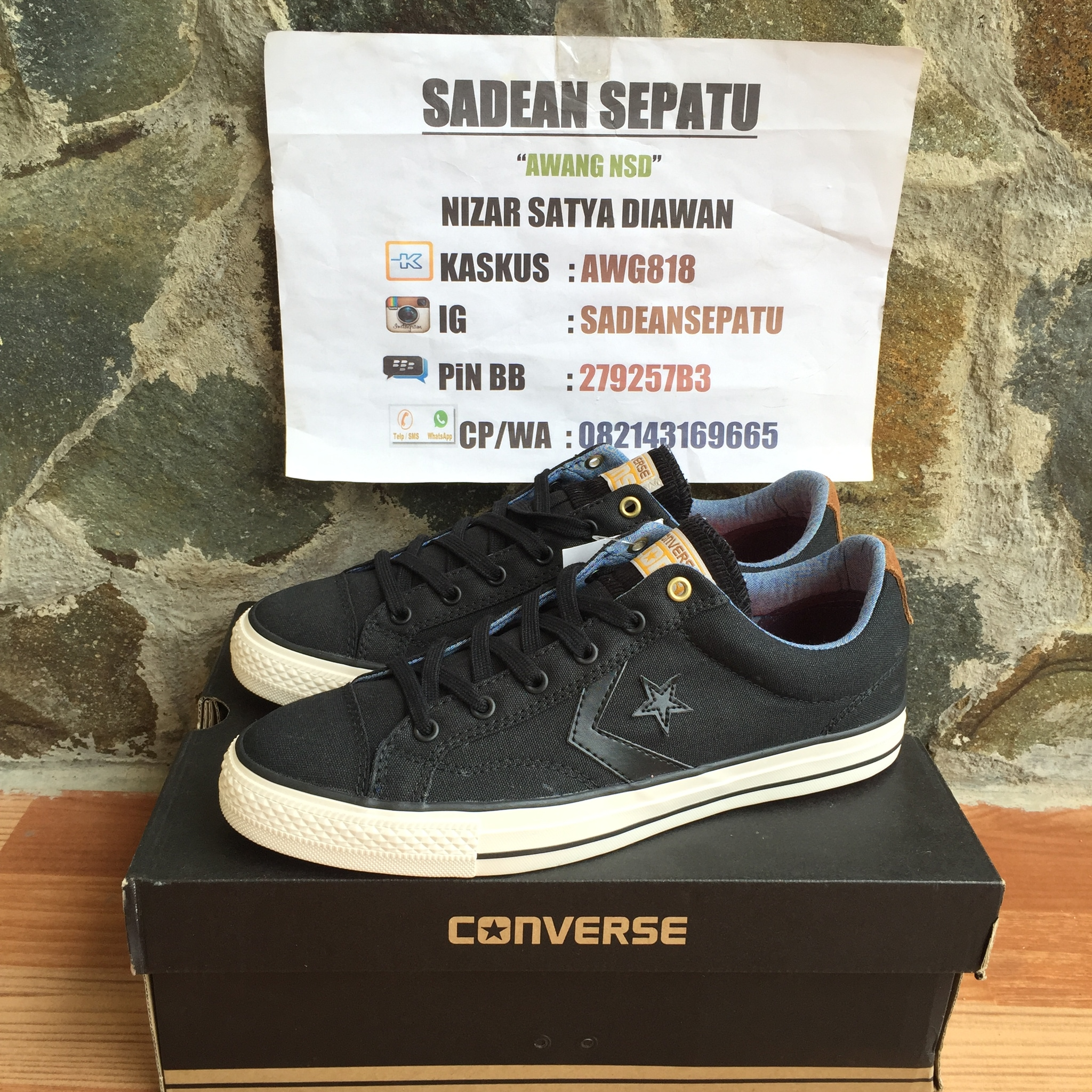 d6524984884 ... good jual converse star player ox black rubber original new sadean  sepatu tokopedia 4d2fe 8453f
