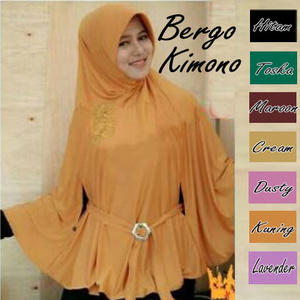 Jilbab Kerudung (Hijab) Bergo Kimono
