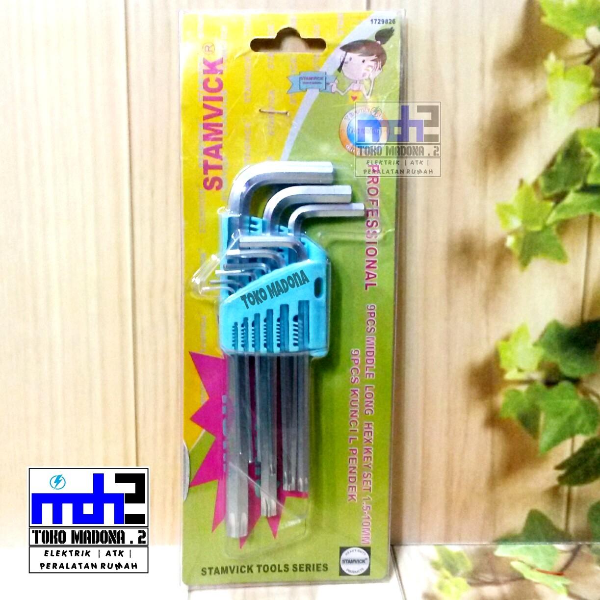 Harga Jual Kunci L Set Tekiro Xtra Long Bintang Panjang 9pcs 9 Pcs Stamvick 15mm