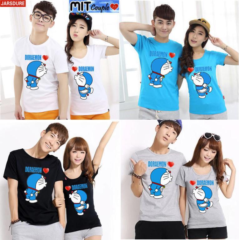 Jual BAJU COUPLE Dora Kiss putih hitam abu biru Baju .