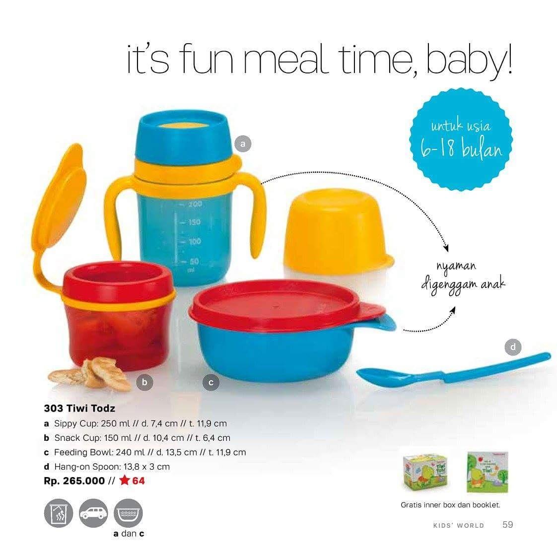 Tupperware Tiwi Kids Perlengkapan Makan Anak Referensi Daftar Kiddy Tempat Bayi Set Jual Todz