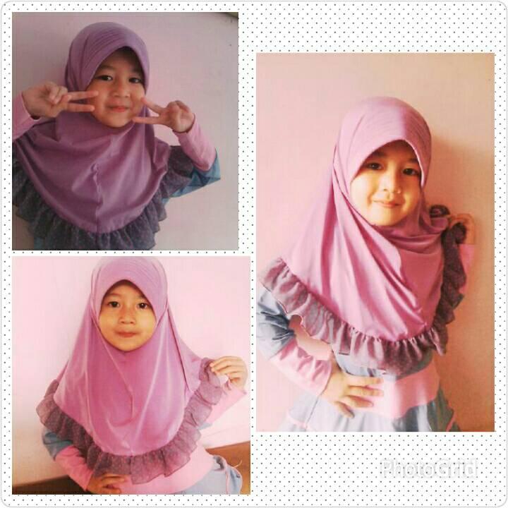 Jilbab anak/bergo anak/kerudung anak/hijab anak 1-3 th
