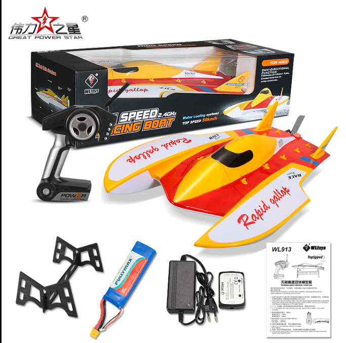 WL913 WL 913 Brushless Boat High Speed Racing RC Boat