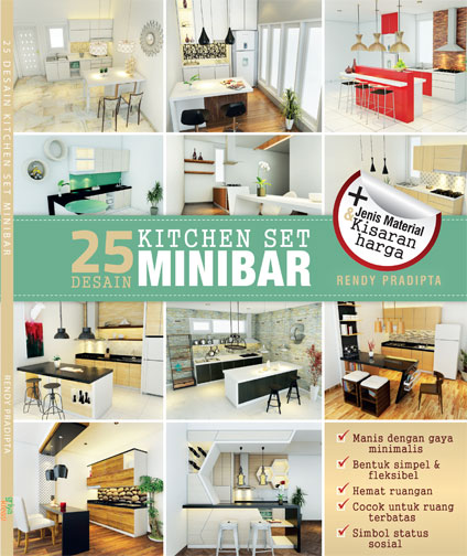Jual 25 Desain Kitchen Set Minibar Soft Cover Azna Buku Tokopedia