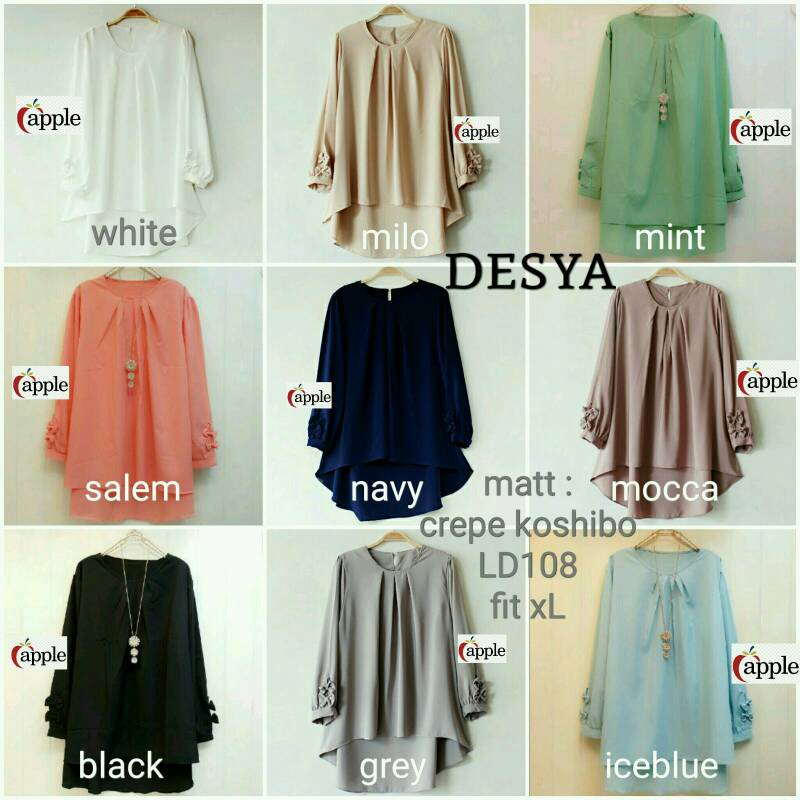 SUPPLIER BAJU HIJAB DESYA TOP AP