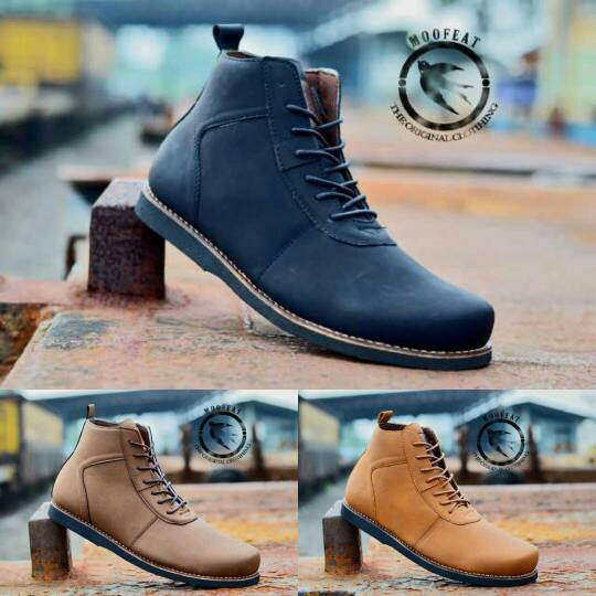 Jual Sepatu Boot Moofeat Semi Leather Original Handmade Murah