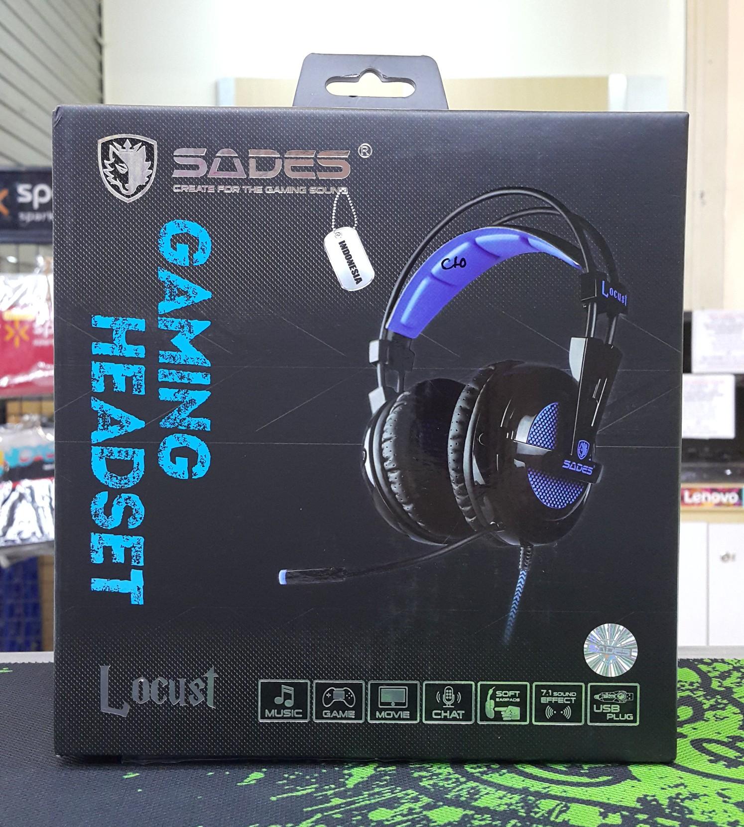 Jual Sades Locust A6 Headset Gaming Delifour Dot Com Tokopedia Sa 704