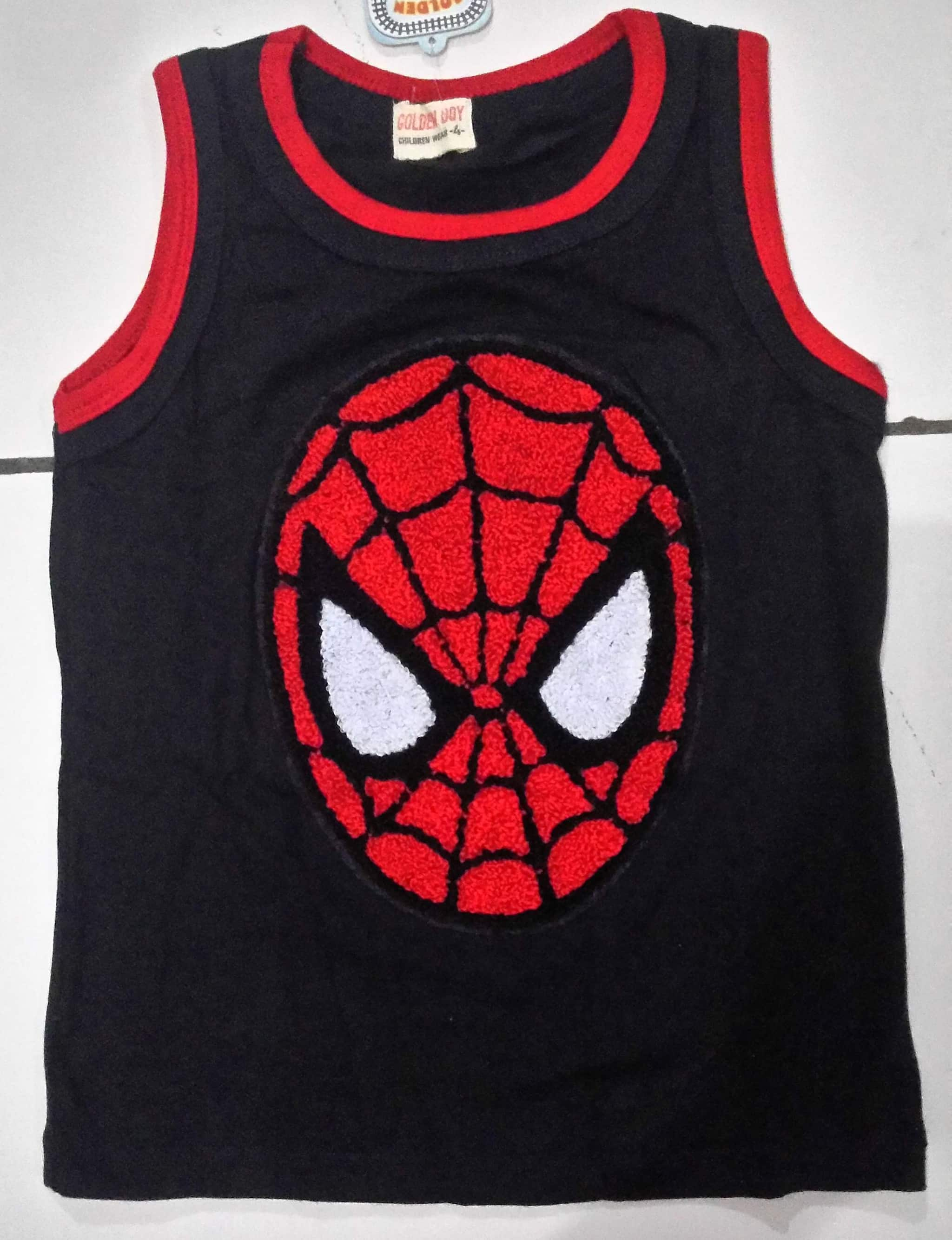 KSKDL24 - Koas Atasan Tanktop Spiderman Head Bordir Murah