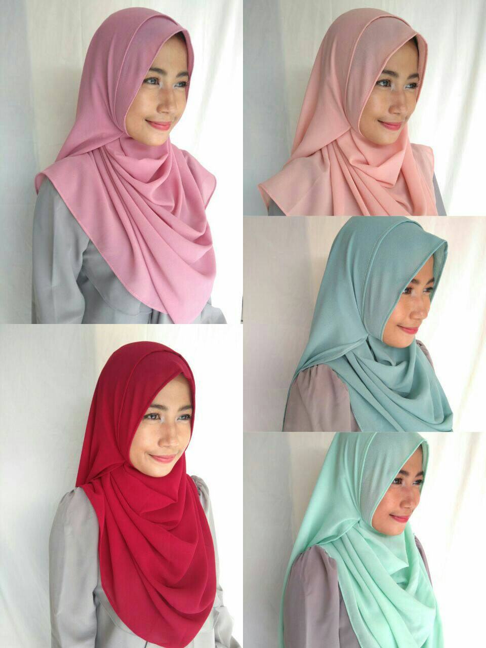 hijab instant / pashmina instant / malika instant