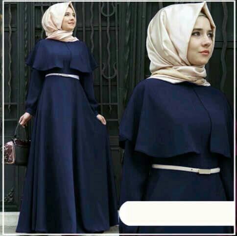 adiana hijab navy bhn spndex fit L