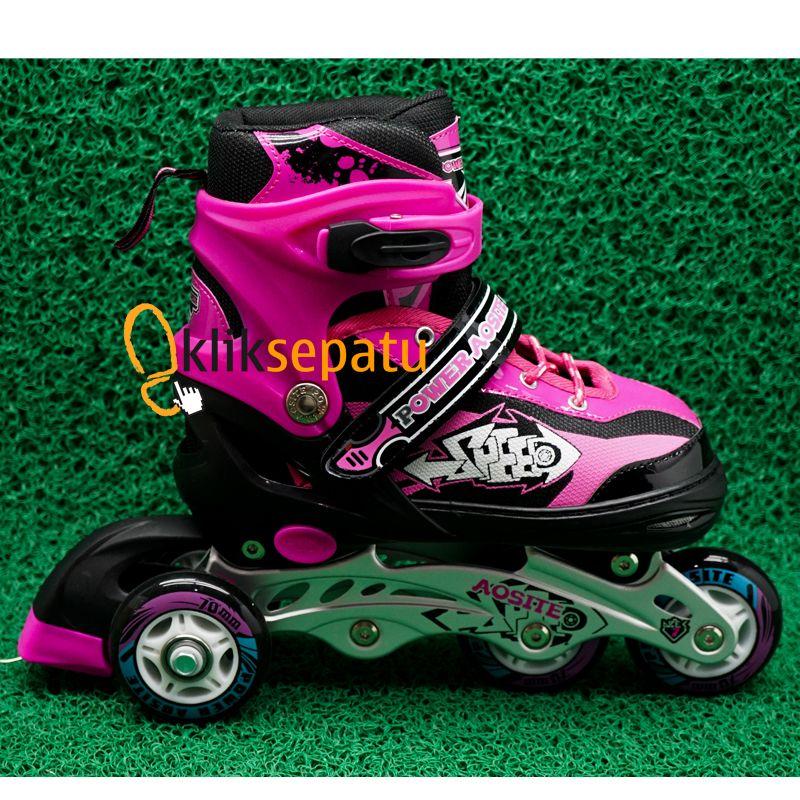 Jual Sepatu Roda Bajaj Sepaturoda Sepatu roda Power ban Karet Pink Kliksepatu .