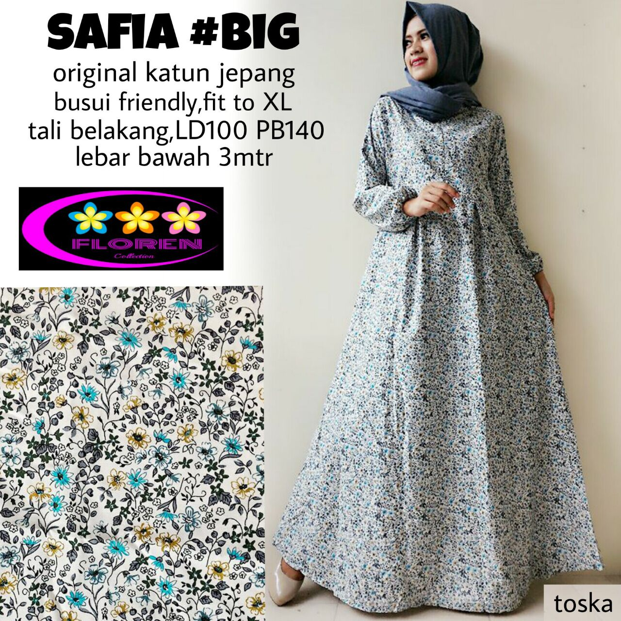SUPPLIER HIJAB REALPICT : SAFIA #3 BY FLOREN