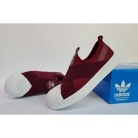 Adidas Super Star Slip On maroon