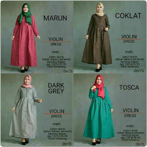 dress / long dress / hijab/ violine dress