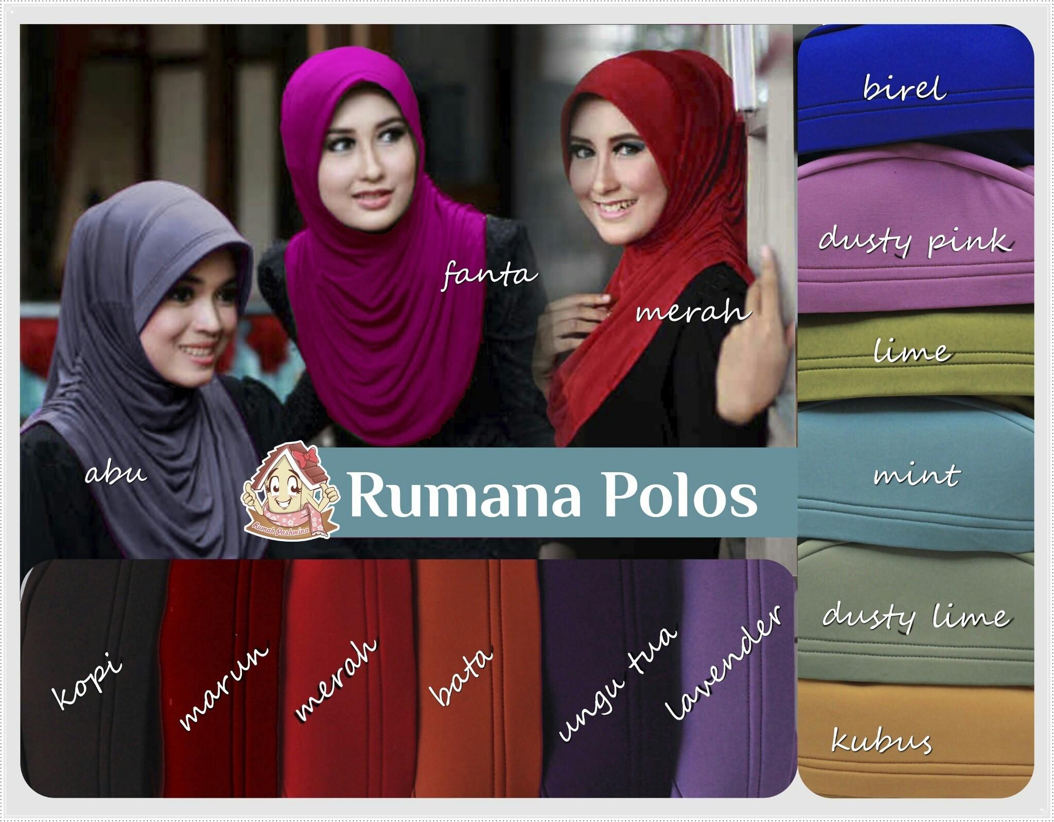 Jilbab rumana polos jersey / jilbab instan / hijab bergo