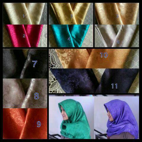 hijab jilbab kerudung jaguar silk kembang batu
