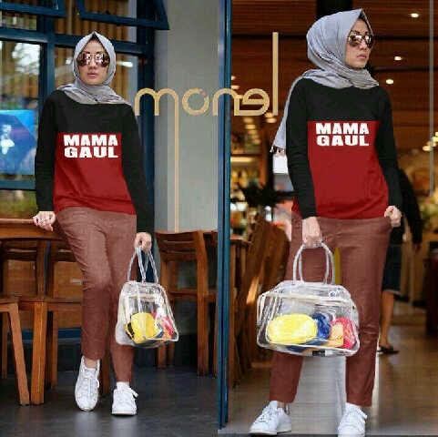 cvo_mamaset hitamaron 3in1 / setelan hijab