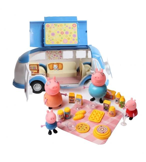 jual mainan anak peppa pig blue camping car famous famous tokopedia. Black Bedroom Furniture Sets. Home Design Ideas
