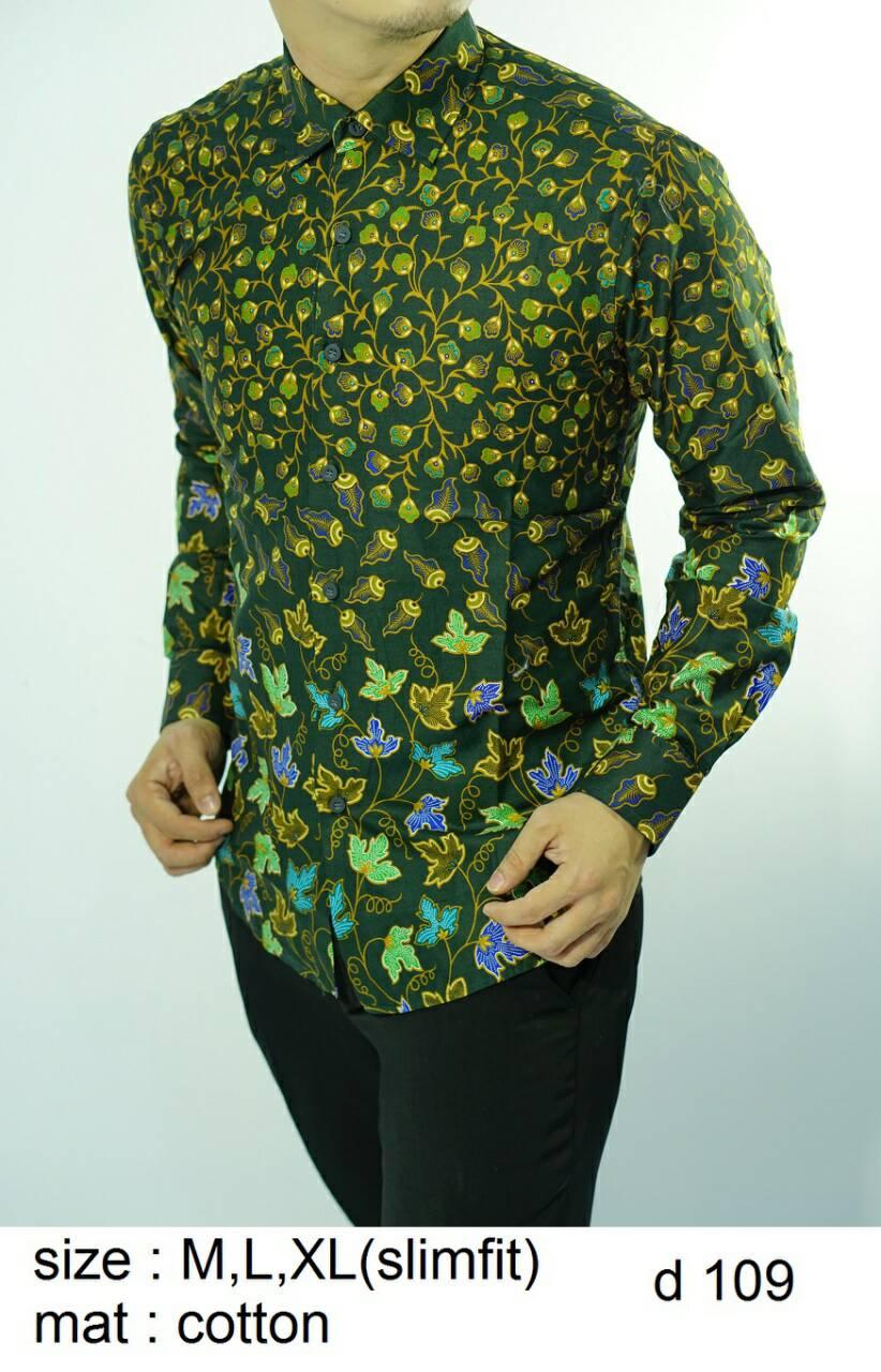 Batik Slim Fit - Kualitas Mall Elite!! Kemeja Slimfit Keren D109