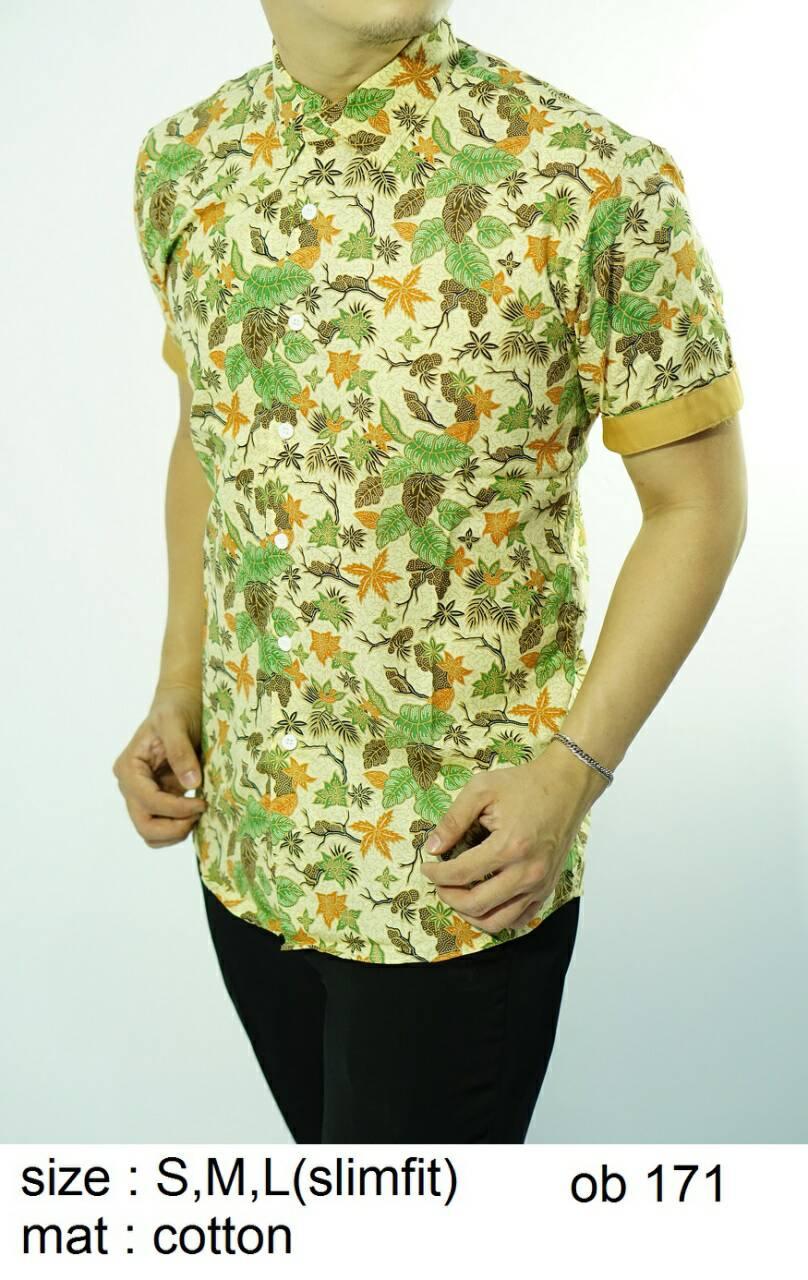 Batik Slim Fit - Kualitas Mall Elite!! Kemeja Slimfit Keren OB171