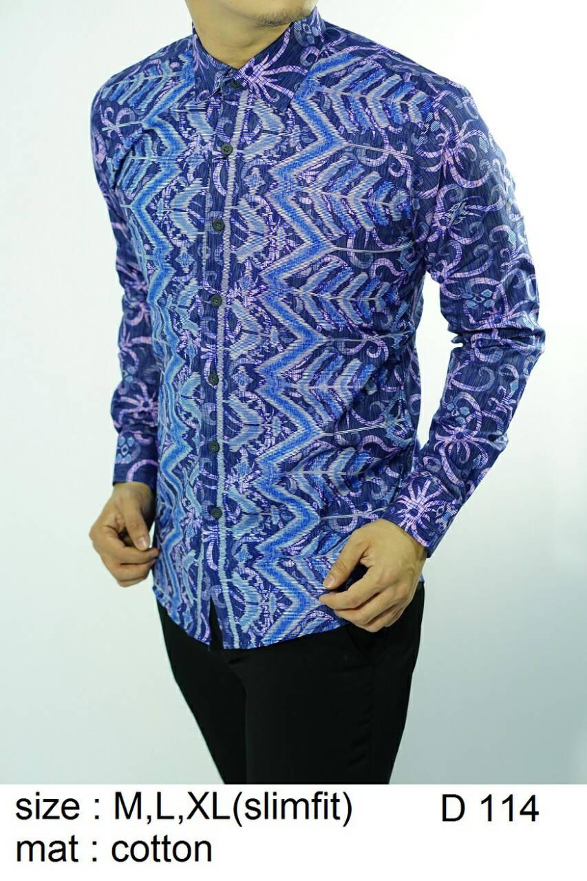 Batik Slim Fit - Kualitas Mall Elite!! Kemeja Slimfit Keren D114