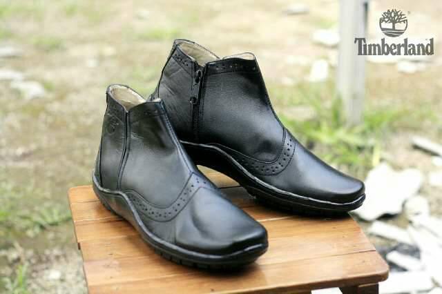 Jual Sepatu Boot Casual Timberland Zipper Kulit Murah