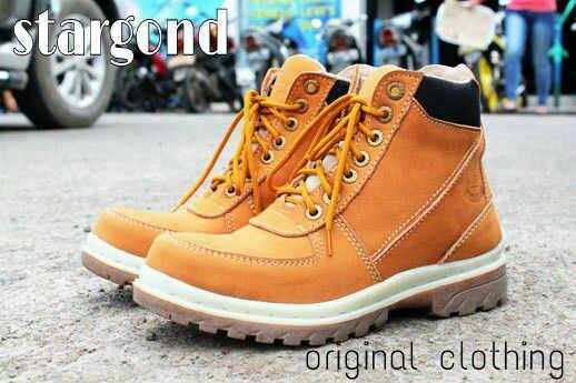 Jual Sepatu Boot Cowok Stargond Mercury Tan / Safety Kulit Murah