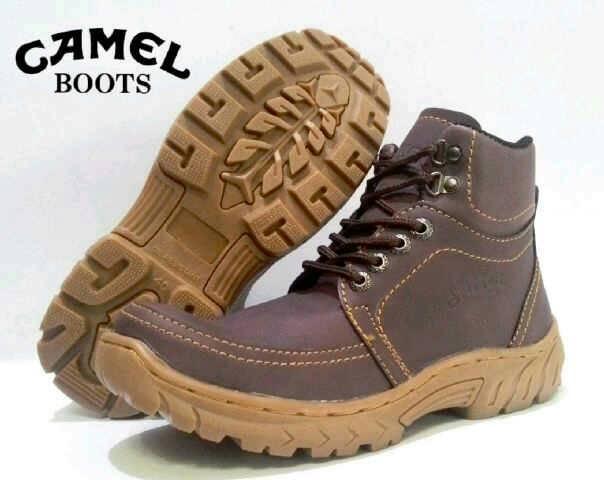 Jual Sepatu Boots Camel Dragon Brown / Kulit Murah