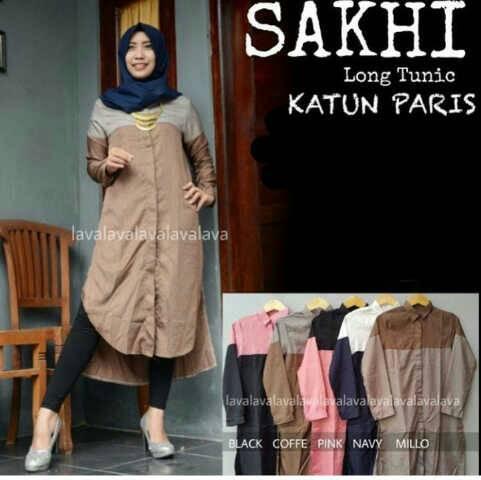 SAKHI TUNIK / kemeja /hijab