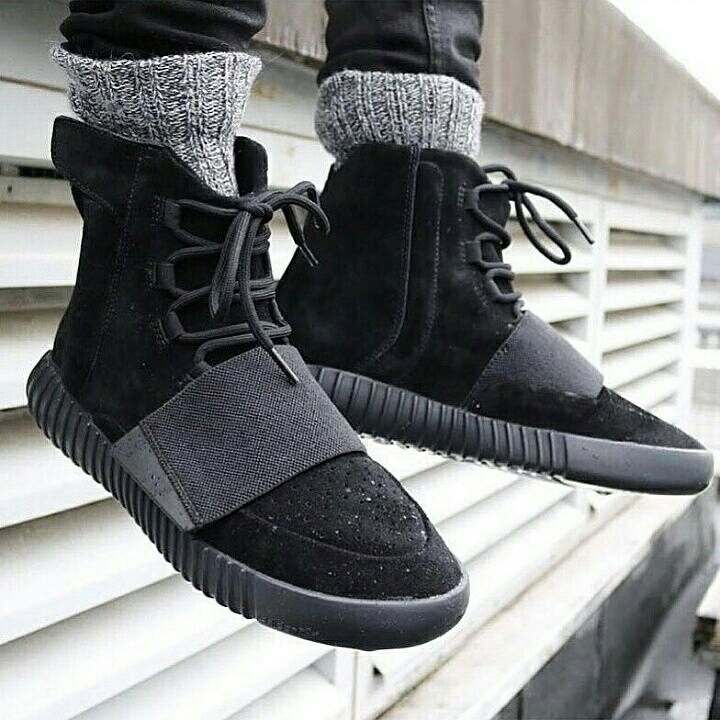 b1870cff2 aliexpress adidas yeezy boost 750 kanye west full black . a0894 4b8f4