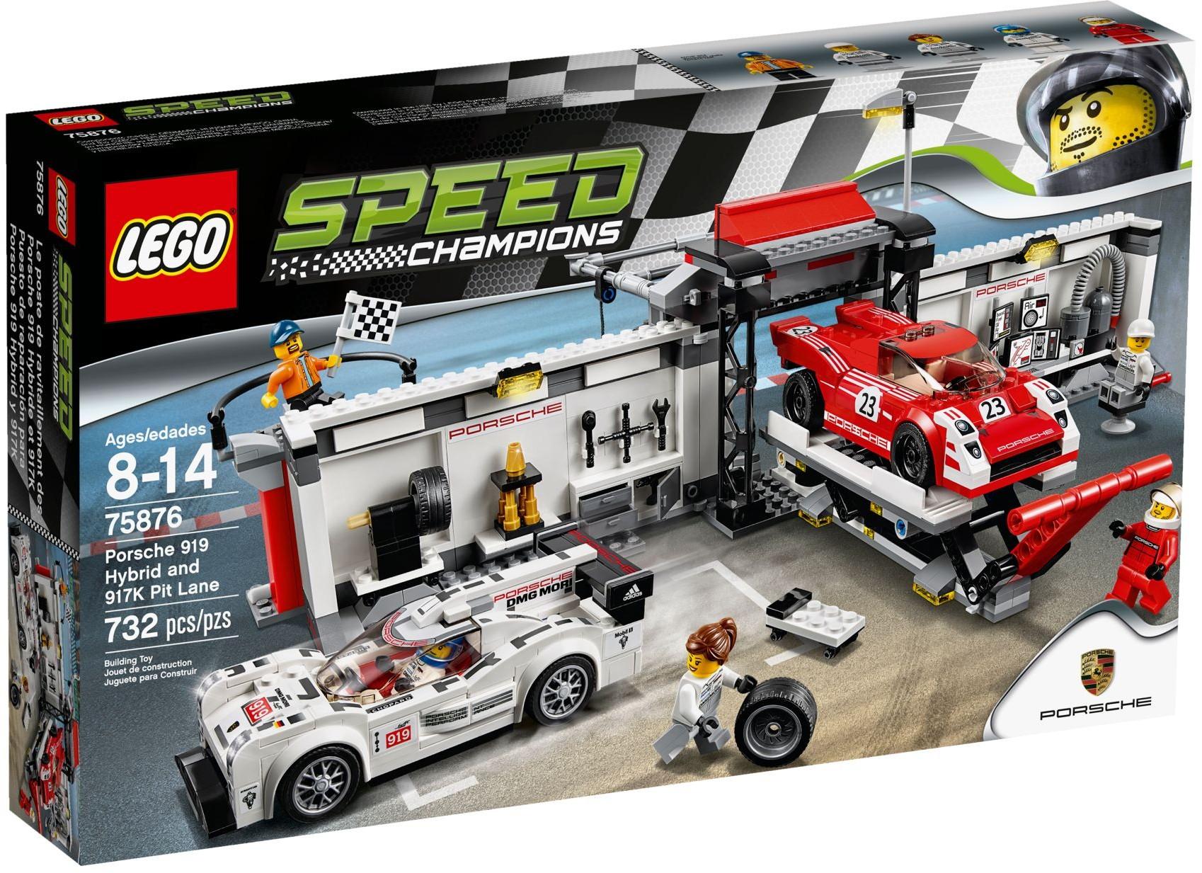 LEGO 75876 - Speed Champions - Porsche 919 Hybrid and 917K Pit Lane
