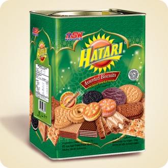 Jual Hatari Assorted Biscuit Tin 750 GR Biskuit Kaleng Lebaran